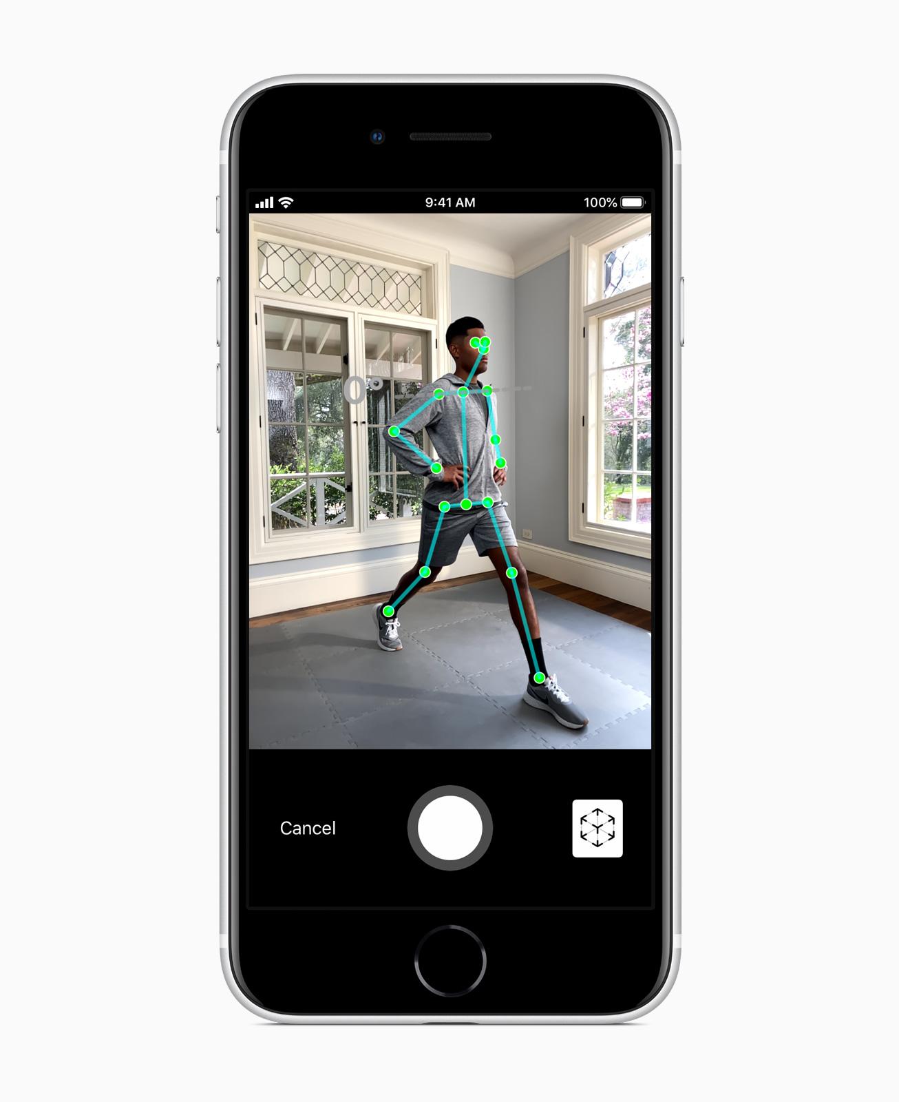 Das neue Apple iPhone SE Augmented Reality (AR) - Screen