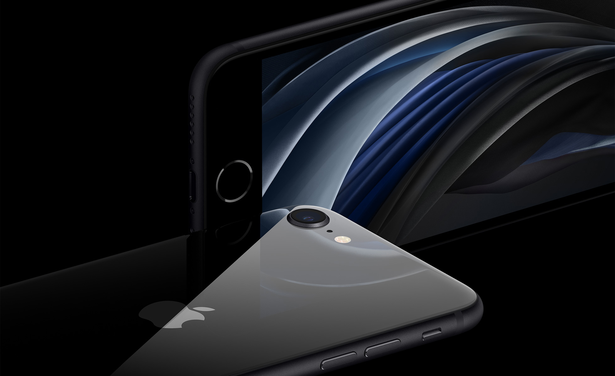 Das-neue-Apple-iPhone-SE-in-Schwarz-mit-einem-Einlinsen-Kamerasystem-und-Touch-ID