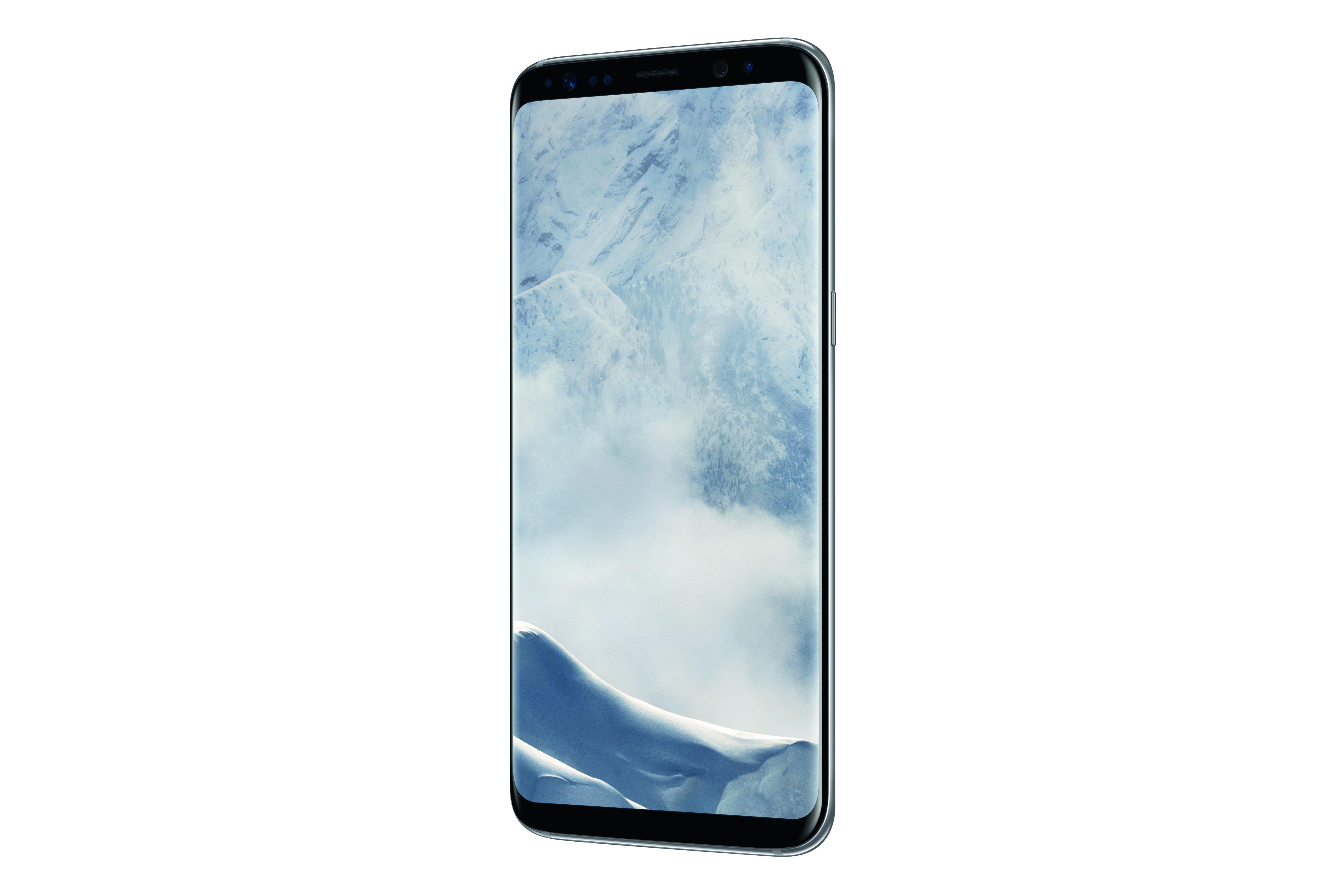 Das neue Samsung Galaxy S8 SM-G950F in Arktis-Silber