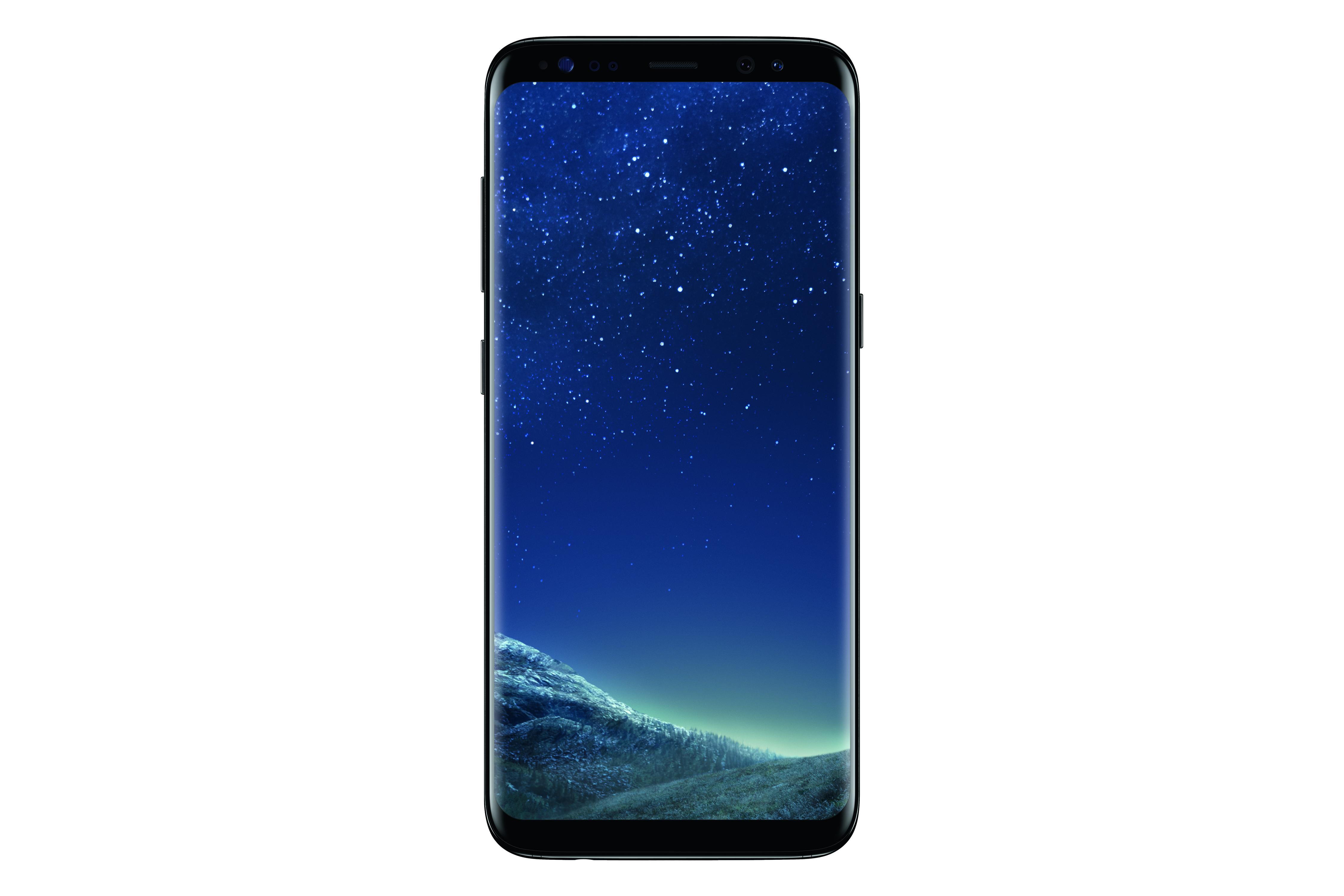 Das neue Samsung Galaxy S8 SM-G950F in Mitternachts-Schwarz