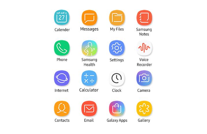 Die App-Icons des Samsung Galaxy S8 und Galaxy S8+