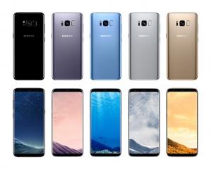 Die Farbpalette des Samsung Galaxy S8 und Galaxy S8+