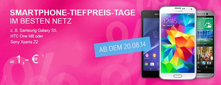Telekom Smartphone-Tiefpreis-Tage - Das beste Netz für kleines Geld