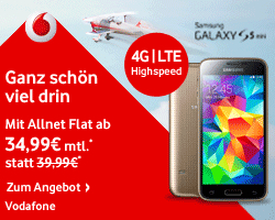 Vodafone Aktionsangebot - Vodafone Smart L mit dem Samsung Galaxy S 5 mini