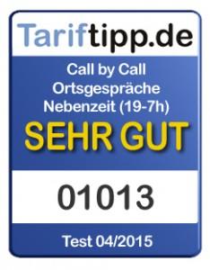 Tele2 Tariftipp.de Siegel 04-2015 Call-by-Call