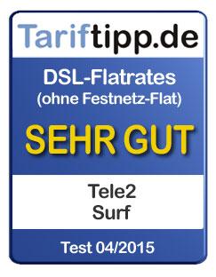 tele2 siegel 04 2015 dsl tarife ohne festnetz flat handy dsl tarif info. Black Bedroom Furniture Sets. Home Design Ideas