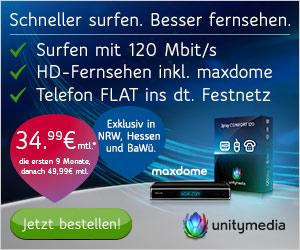 Unitymedia 3Play Angebot - Telefon - Internet - Digitales HD-TV