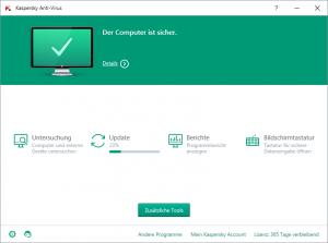 Anzeigebildschirm Updateprozess Kaspersky Anti-Virus