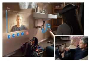 Mit der Microsoft HoloLens auf eine neue Art Skype erleben