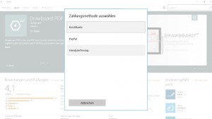 Windows 10 Store Zahlungsmethode