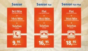 HFO Telecom Home-Senior-Tarife Übersicht