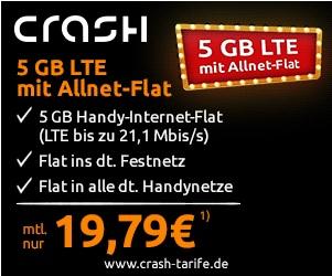 Aktueller Crash Deal - mobilcom-debitel Yourflat mit 5GB LTE Datenflat und Allnetflat