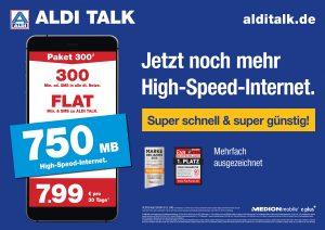 Super schnell und super günstig ALDI TALK erhöht Datenvolumen in allen Paketen