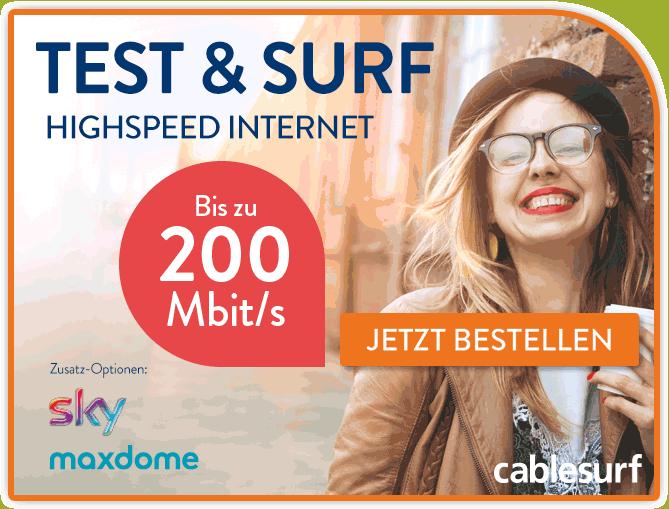 cablesurf test und surf aktion 3 monate kabel internet von cablesurf testen handy dsl tarif info. Black Bedroom Furniture Sets. Home Design Ideas
