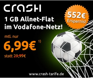 crash-tarife Deal - mobilcom debitel Flat Allnet comfort im Vodafone Netz für nur 6,99 Euro im Monat