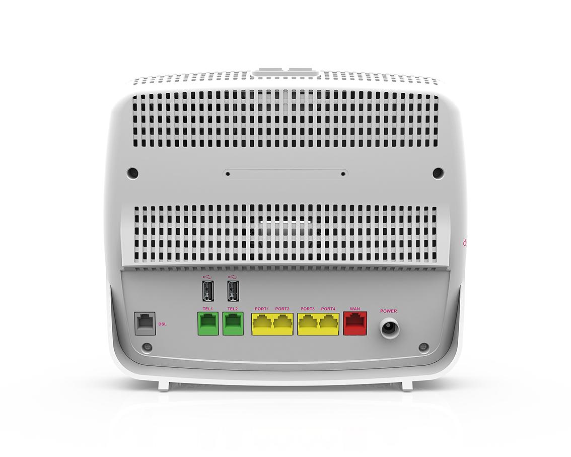 Sunrise Internet Box fast 5360 - Ansicht Anschlüsse hinten - Handy ...
