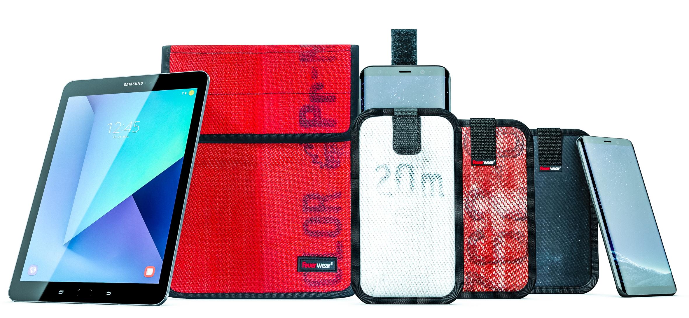 Feuerwear Rob 2 und Mitch für das Samsung Galaxy S8 Smartphone und das Galaxy Tab S3