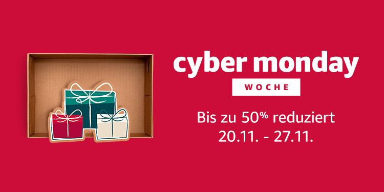Banner Amazon.de Cyber Monday Woche - Der Link ist unterhalb des Banners zu finden