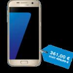 Samsung Galaxy S7 in gold in der congstar Cyber Weekend Aktion