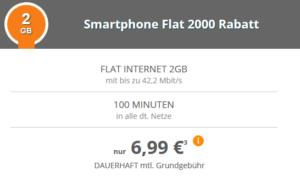 modeo klarmobil.de Top-Deal mit 2 GB und 100 Minuten für dauerhaft nur 6,99 Euro im Monat