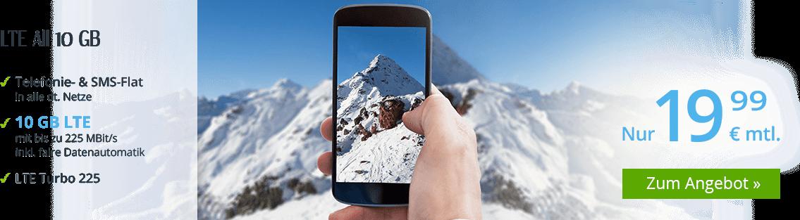 winSIM LTE All 10 GB Allnetflat Handytarif