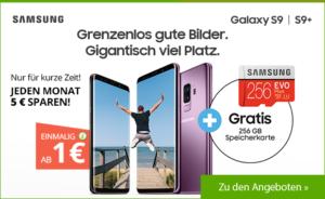 Drillisch Online AG Aktion - Gratis SD-Speicherkarte zum Samsung Galaxy S9 und Galaxy S9+