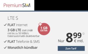 PremiumSIM Spar-Tipp - Allnetflat Handytarif LTE S