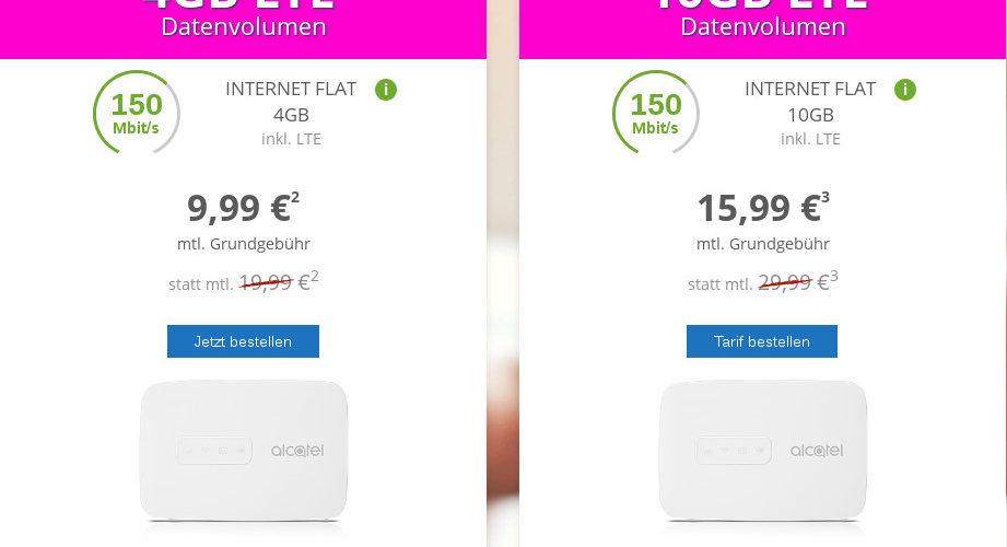 modeo LTE-Datenflat Aktionsangebot im Telekom D1-Netz