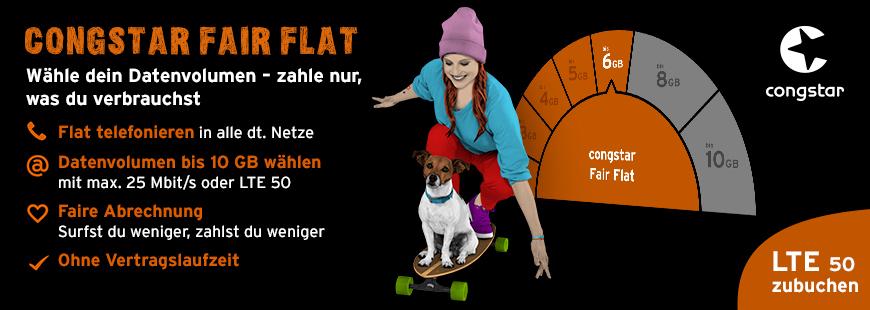 congstar Fair Flat Handytarif Info-Grafik