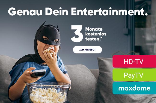 PŸUR TV-Entertainment 3 Monate kostenlos testen und bis zu 51 Euro sparen