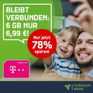 Telekom green LTE 6 GB für nur 6,99 Euro bei mobilcom-debitel