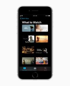 Das neue Apple iPhone SE - Apple TV Screen