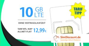 SimDiscount 10 GB LTE AllnetFlat Handytarif