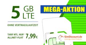 SimDiscount 5 GB LTE AllnetFlat Handytarif