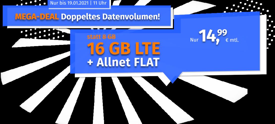 PremiumSIM Tarif-Aktion - LTE Handytarif mit 16GB für unter 15 Euro monatlich