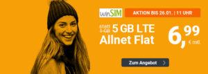 winSIM mit neuen Aktionstarifen – 5 GB für 6,99 Euro monatlich