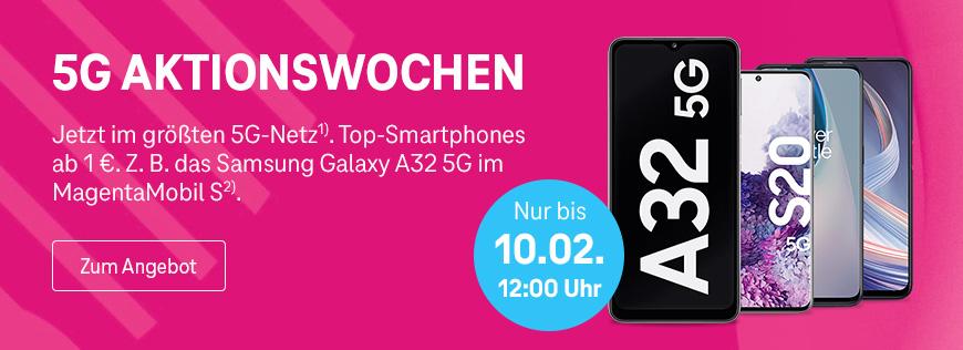 Telekom Deutschland 5G Aktionswoche - Attraktive Smartphones ab 1 Euro