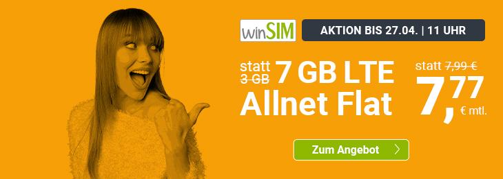 """Tariftipp - """"Die glorreichen Sieben"""": winSIM bietet 7 GB für 7,77 Euro monatlich an"""